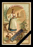 Victorian Trade Card: Antique Original LIEBIG - Russie - Series 291 issued:1890
