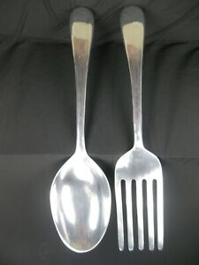 """Giant 46"""" Long Metal Fork & Spoon Wall Hangings Restaurant or Home Décor"""