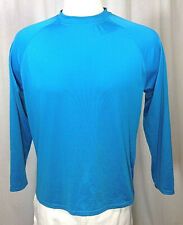 BCG Blue Long Sleeve Athletic Workout Gym Base Layer Lightweight Shirt sz S