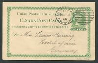 CANADA POSTAL STATIONERY POSTCARD #P4b USED