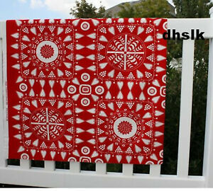 IKEA Christmas FABRIC Snoa Flinga RED White Scandi Tolle XMAS Stars Hearts