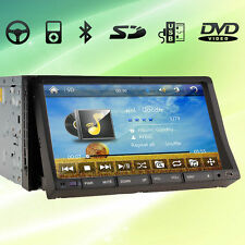 """Double 2 DIN In-Dash Car Deck DVD Player GPS Navigation 7"""" HD Touch Screen"""