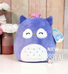 "*SALE* KellyToy Squishmallow 11"" Fania the Purple Owl Princess NEW HTF Plush"