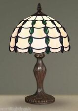 TIFFANY STYLE UNIQUE STAINED GLASS DESK TABLE LAMP - 10.2'' WIDE