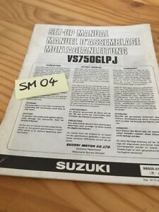 Suzuki VS750GLPJ VS750 Vs Intruder 750 Manual Preparation Instalacion Manual