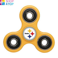 NFL Official Pittsburgh Steelers Yellow Diztracto Spinnerz Fidget Spinner