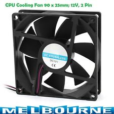90mm x 25mm 2Pin CPU Cooling Fan 12V DC PC Computer Radiator Case Cooler Desktop