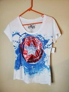 Universal Studios Captain America Logo T-shirt Tee Top Marvel Comics Superheroe