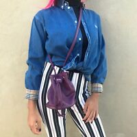 Kenzo Parfums Small Purple Bag Shoulder Strap Women's Pull Tie Closure