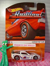 2016 Hot Wheels Redline #17 CORVETTE C6R☆White Chevy; Red/Blue 88☆Heritage