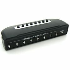 8 PORT 3.5mm STEREO Manual Sharing Switch BOX Audio Speaker selector way 8:1