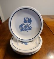"Set Of 4 Pfaltzgraff Yorktowne USA Salad Plates 6 7/8"" Stoneware"
