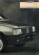 Fiat Uno 1987-88 UK Market Sales Brochure 45 S 60 S 70 SX Turbo ie