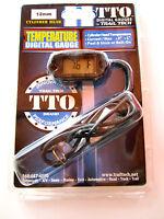 Trail Tech TTO Temperature Meter Black Digital Gauge 12mm Spark Plug Sensor ET2