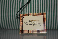 Mens THOMAS BURBERRY GREEN WHITE STRIPE SHIRT Button Down Collar SIZE M   MEDIUM