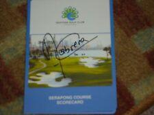 Angel Cabrera Champion Signed Sentosa Golf Club Scorecard COA