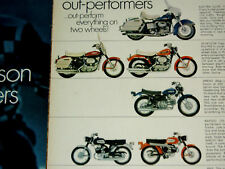1969 HARLEY-DAVIDSON SPORTSTER/900-ELECTRA GLIDE/1200/cc PRINT AD-poster/sign-68