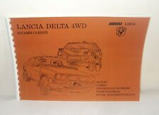 Manuale Catalogo ricambi Abarth Lancia Delta 4WD Spare parts catalog-