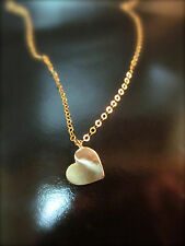 14k yellow gold Heart-shaped pendant. Handmade beautiful and simple necklace