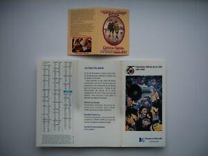 Lot of 2 Hockey Schedule Canada vs Russia 1974 & 1991-92 NHL