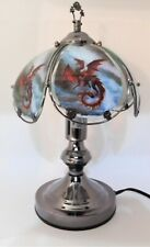 "OK Lighting 14.5"" Red Dragon 3-Way Touch Light Lamp - SEE PHOTOS!!!"