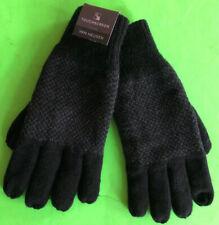 VAN HEUSEN Men's GRAY & BLACK Winter GLOVES Fleece Lined TOUCH SCREEN One Size