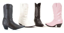White Girls Boots Dallas Cowboy Cheerleader Costume Shoes Kid Child size 2 3 4 5