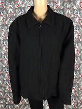Old Navy Men's Black Wool Blend Jacket Coat Full Zipper Up Size Large PreOwned