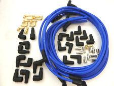 9.5 MM Blue Performance Universal 90 Degree Spark Plug Wires Chevy Ford Mopar
