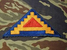 "Salty old WWII US Seventh Army ""7 steps to hell"" color shoulder cut edge patch"