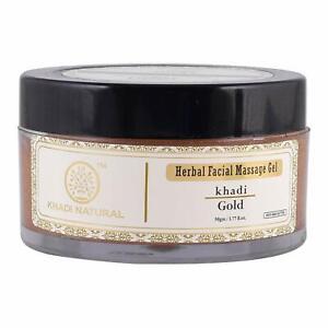 Khadi Natural Herbal Facial Gold Massage Cream (3 X 50gm)