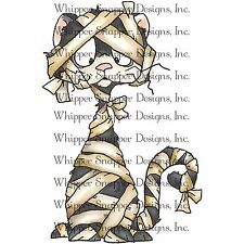 Halloween Mummy Cat, Unmounted Rubber Stamp Whipper Snapper Designs New CY740