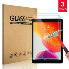 (3-Pack) Tempered Glass Screen Protector For iPad 10.2 inch 2019 7th Gen HD