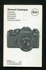 1977 Softback: Leitz General Catalogue Cameras etc: 171 Pages & Illustrated