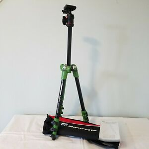 Manfrotto MKBFRA4G-BH BeFree Compact Aluminum Travel Tripod Green with Head