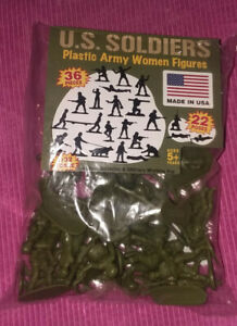 Female Plastic Toy Soldiers, Bag 36 Asst.-Lower Price