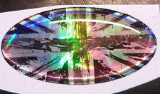 Union Jack Bandera Pegatina de pintura Cromo Marea Negra Efecto Brillo Negro 3D Gel cúpula
