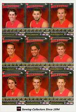 2006 AFL Teamcoach Trading Cards Silver Team set Melbourne (9)