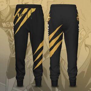 Haikyuu !! MSBY Black Jackals Cosplay pants 3D printed Sweatpant Sports Trousers