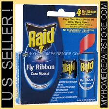 4 / $ 7 — 1 PACK OF 4 — RAID FLY RIBBON — FLYING INSECT — GLUE STRIP — BUG TRAP