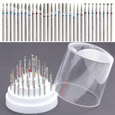 30pcs Nail Drill Bits Set Electric File Manicure Pedicure Art Tools Holder Stand