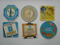 SIX BEERMATS FROM THE 1970S-80S COMPLETELY DIFFERENT  BABYCHAM MATS