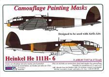 AML Models 1/72 CAMOUFLAGE PAINT MASKS HEINKEL He-111H-6 Bomber