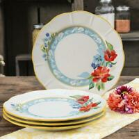 The Pioneer Woman Spring Bouquet 4-Piece Dinner Plate Set