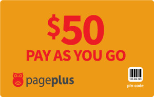 PagePlus  Prepaid $50  833  Minutes Refill Top-Up Prepaid Card ,PIN / RECHARGE