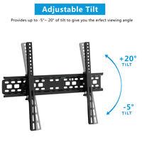 "Flat TV Wall Mount Bracket 20° Tilt Swivel For 32""37""42""47""50""55""60""65""70""inch"