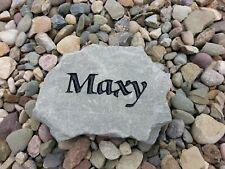 7 x 3 Personalized Engraved Pet Memorial Marker Dog Cat Feline Stone Rock