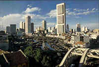 SINGAPORE Singapur Skyline City Panoramic View Postcard, Ansichtskarte Asien AK