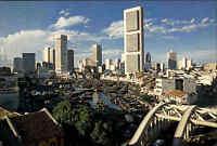 SINGAPORE Singapur Skyline City Panoramic View Postcard, Ansichtskarte Asien AK