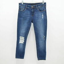 "DL1961 Florence Skinny Jeans Crop 9"" Rise Womens W26 L23 Distressed Ripped Blue"